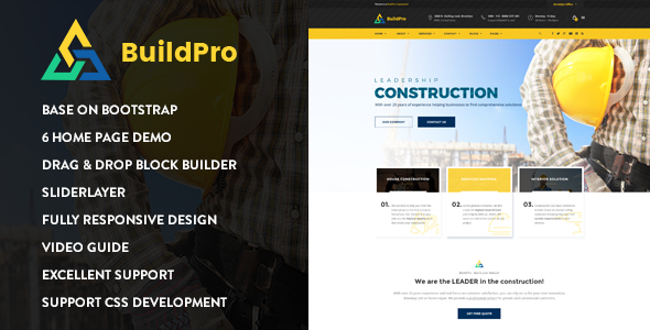 BuildPro – Construction Drupal 8 Theme - Nulled Scripts