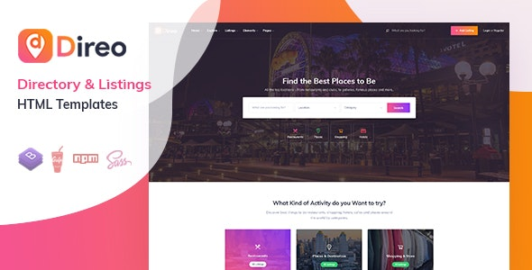 Direo – Directory & Listing HTML Template - Nulled Scripts