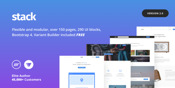Stack v2 0 6 – Multi-Purpose HTML with Page Builder - Nulled